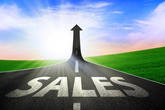 Försäljning i topp